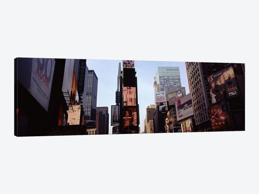 Low angle view of buildings, Times Square, Manhattan, New York City, New York State, USA 2011 by Panoramic Images 1-piece Canvas Artwork