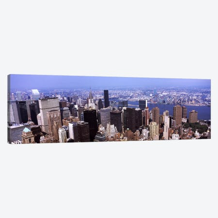 High angle view of buildings in a city, Manhattan, New York City, New York State, USA 2011 Canvas Print #PIM9744} by Panoramic Images Canvas Art