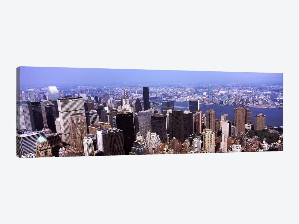 High angle view of buildings in a city, Manhattan, New York City, New York State, USA 2011 by Panoramic Images 1-piece Canvas Artwork