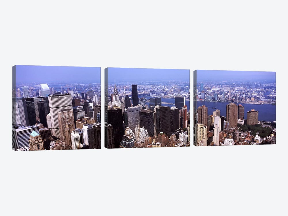 High angle view of buildings in a city, Manhattan, New York City, New York State, USA 2011 by Panoramic Images 3-piece Canvas Wall Art