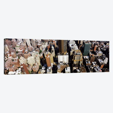 High angle view of buildings in a city, Manhattan, New York City, New York State, USA Canvas Print #PIM9746} by Panoramic Images Canvas Wall Art