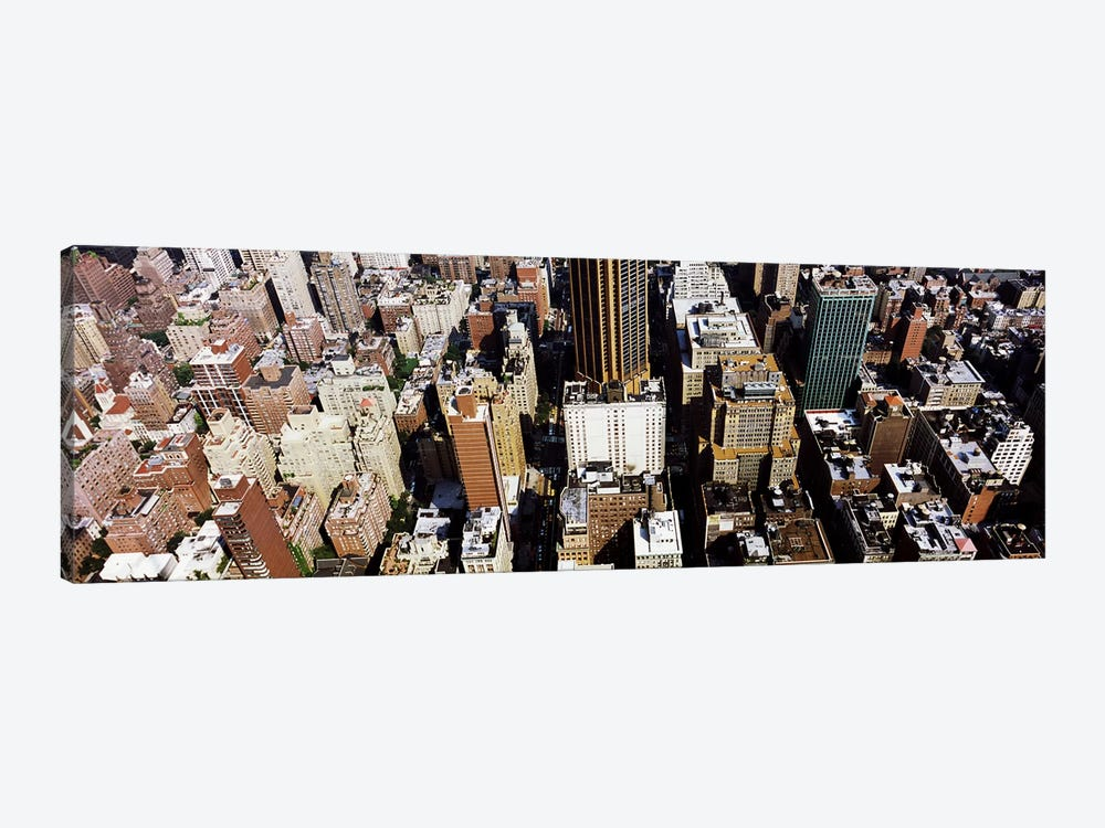 High angle view of buildings in a city, Manhattan, New York City, New York State, USA by Panoramic Images 1-piece Canvas Wall Art