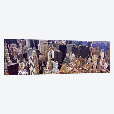 High angle view of buildings in a city, Manhattan, New York City, New York State, USA #2 Canvas Print #PIM9748} by Panoramic Images Art Print