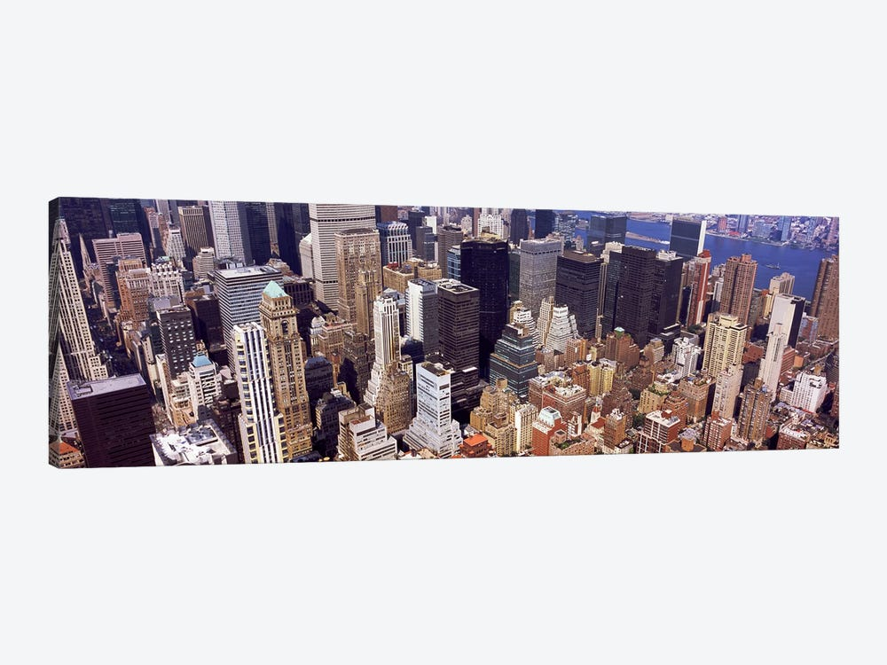 High angle view of buildings in a city, Manhattan, New York City, New York State, USA #2 by Panoramic Images 1-piece Canvas Wall Art