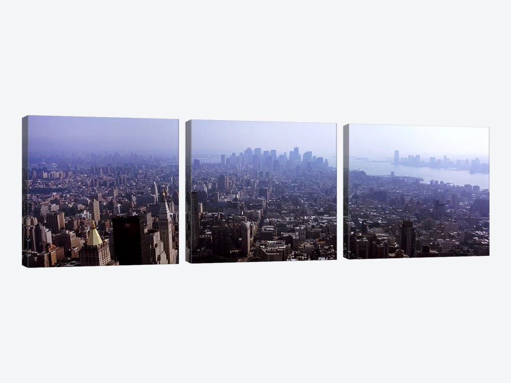 High angle view of buildings in a city, Manhattan, New York City, New York State, USA 2011 #2 by Panoramic Images 3-piece Canvas Art Print