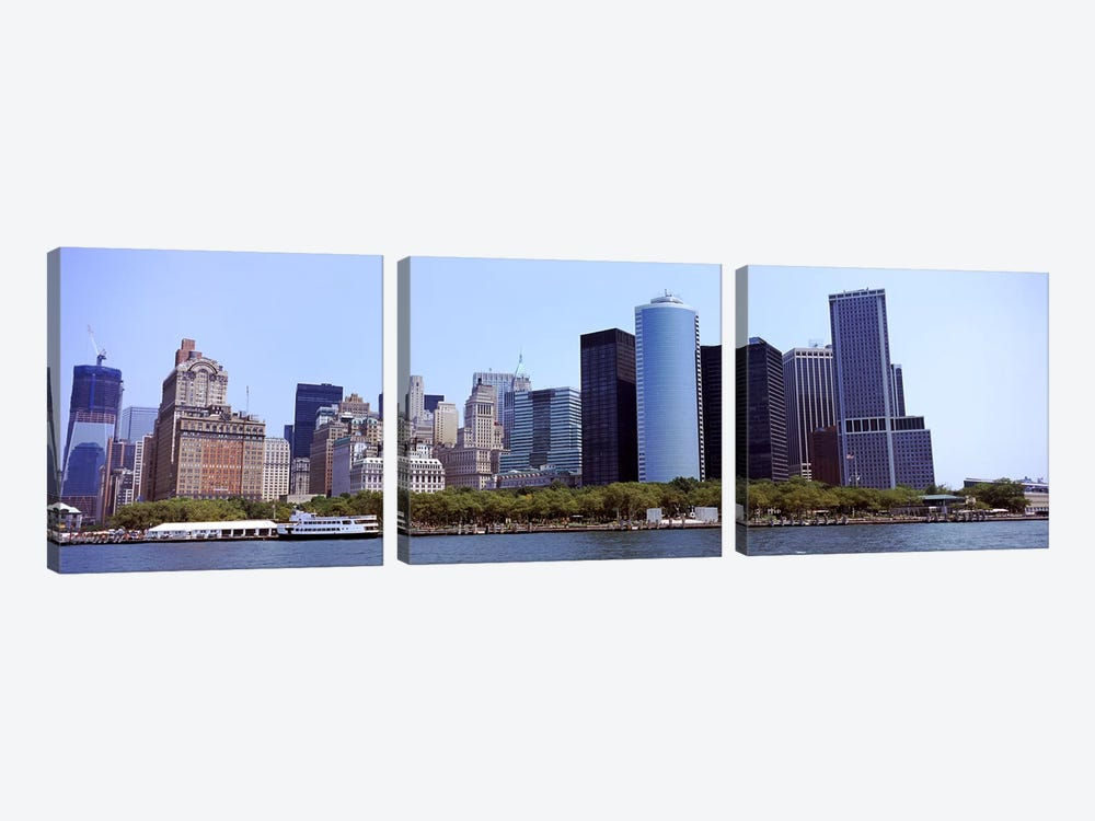 Skyscrapers at the waterfront, Lower Manhattan, Manhattan, New York City, New York State, USA 2011 #2 by Panoramic Images 3-piece Canvas Art Print