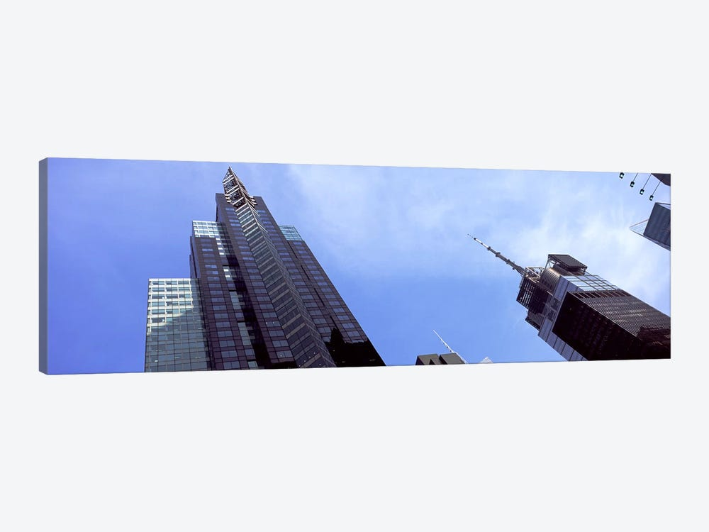 Low angle view of skyscrapers in a city, New York City, New York State, USA 2011 by Panoramic Images 1-piece Canvas Wall Art