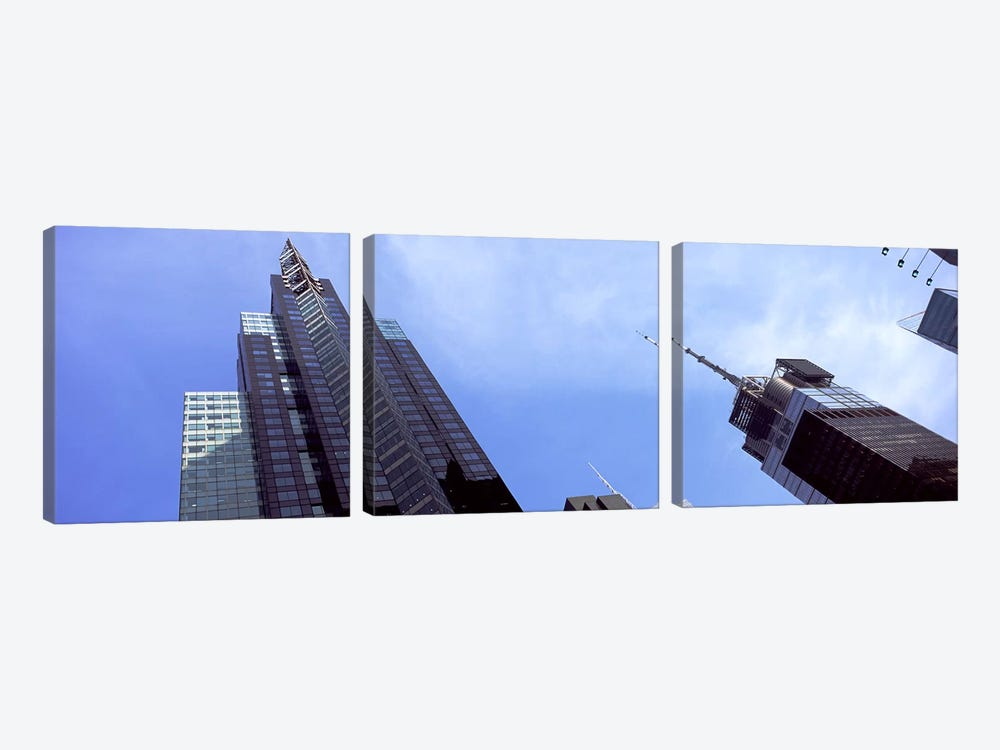 Low angle view of skyscrapers in a city, New York City, New York State, USA 2011 by Panoramic Images 3-piece Canvas Artwork