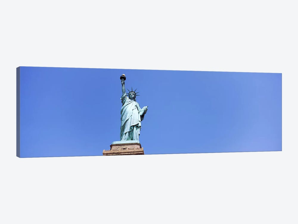 Low angle view of a statue, Statue Of Liberty, Liberty Island, New York City, New York State, USA by Panoramic Images 1-piece Canvas Artwork