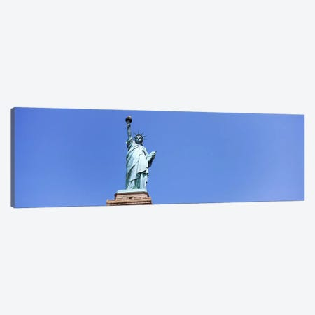 Low angle view of a statue, Statue Of Liberty, Liberty Island, New York City, New York State, USA Canvas Print #PIM9757} by Panoramic Images Canvas Art Print