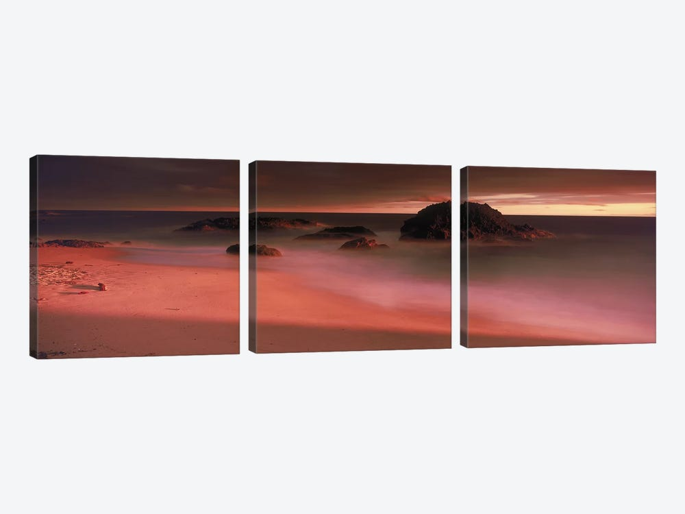 Rock formations on the beach, Laguna Beach, California, USA by Panoramic Images 3-piece Canvas Wall Art