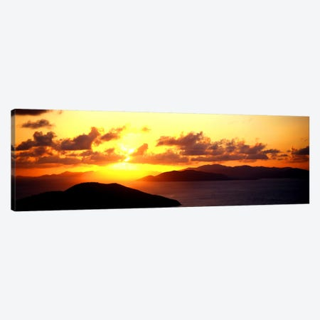 Sunset Virgin Gorda British Virgin Islands Canvas Print #PIM975} by Panoramic Images Canvas Art Print