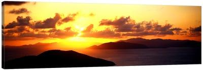 Sunset Virgin Gorda British Virgin Islands Canvas Print #PIM975