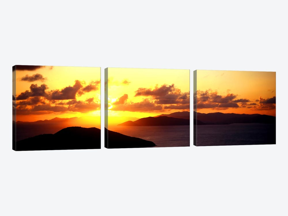 Sunset Virgin Gorda British Virgin Islands by Panoramic Images 3-piece Canvas Art