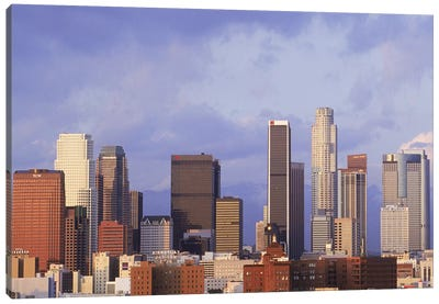 Skyscrapers in a city, City Of Los Angeles, Los Angeles County, California, USA #6 Canvas Art Print