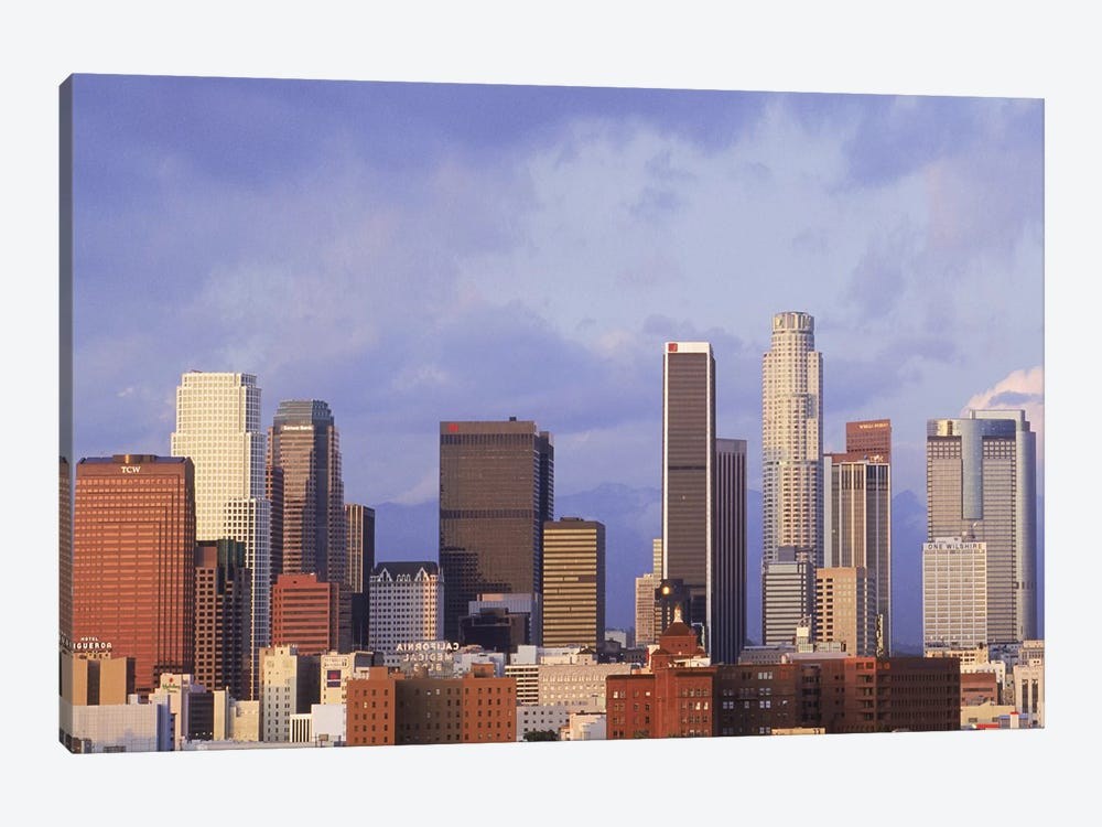 Skyscrapers in a city, City Of Los Angeles, Los Angeles County, California, USA #6 by Panoramic Images 1-piece Canvas Print