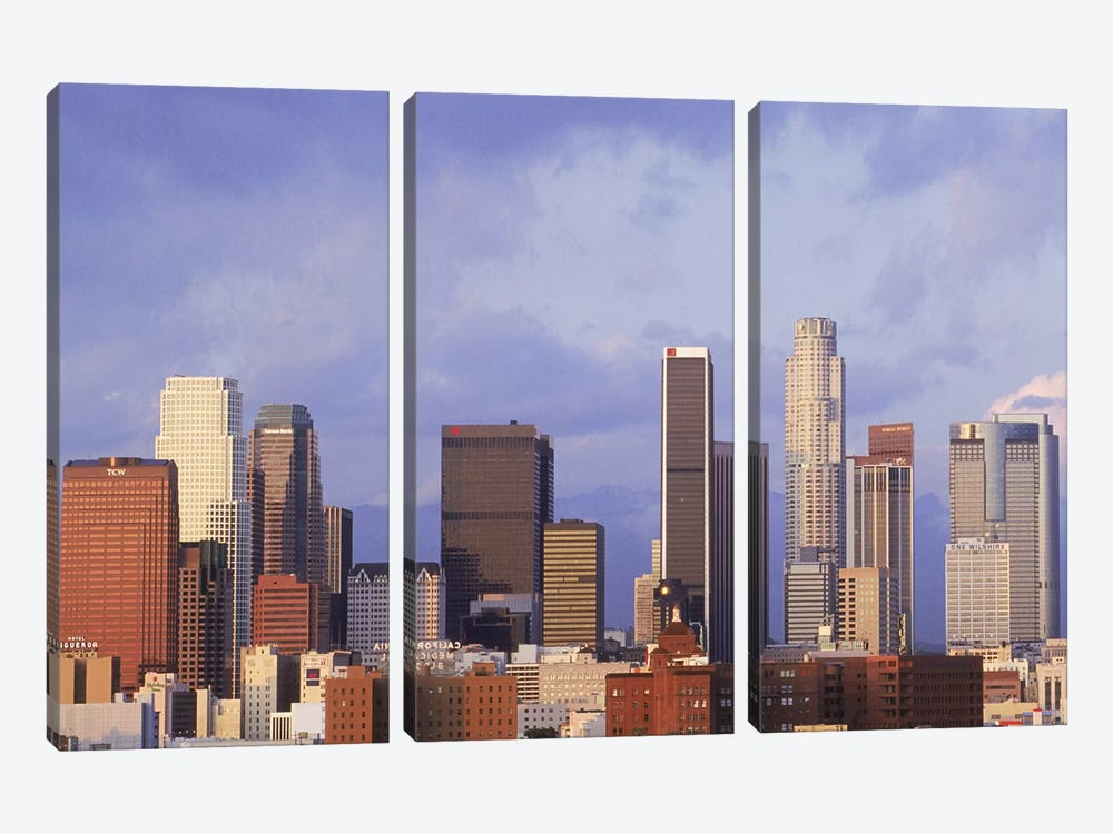 Skyscrapers in a city, City Of Los Angeles, Los Angeles County, California, USA #6 by Panoramic Images 3-piece Canvas Art Print