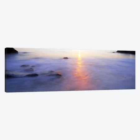 Ocean at sunset Canvas Print #PIM9795} by Panoramic Images Art Print