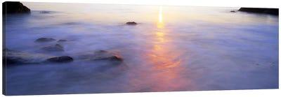 Ocean at sunset Canvas Print #PIM9795