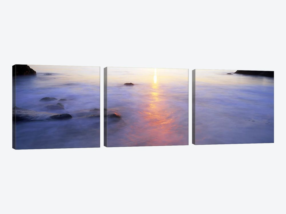 Ocean at sunset by Panoramic Images 3-piece Canvas Wall Art