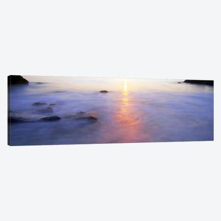 Ocean at sunset Canvas Print #PIM9795} by Panoramic Images Art Print