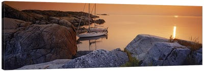 Sailboats on the coast, Lilla Nassa, Stockholm Archipelago, Sweden Canvas Art Print