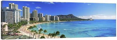Palm trees on the beach, Diamond Head, Waikiki Beach, Oahu, Honolulu, Hawaii, USA #2 Canvas Art Print