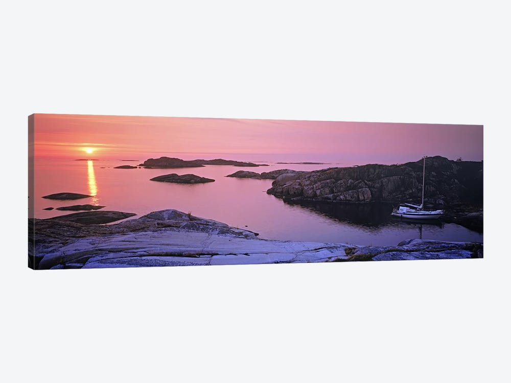 Sailboat on the coast, Lilla Nassa, Stockholm Archipelago, Sweden by Panoramic Images 1-piece Canvas Art Print