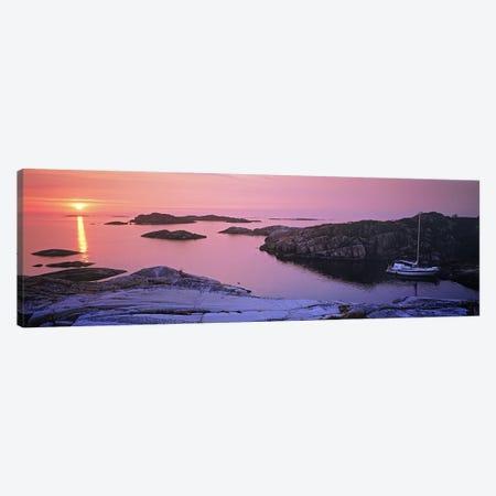 Sailboat on the coast, Lilla Nassa, Stockholm Archipelago, Sweden Canvas Print #PIM9807} by Panoramic Images Canvas Art Print