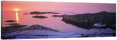 Sailboat on the coast, Lilla Nassa, Stockholm Archipelago, Sweden Canvas Art Print