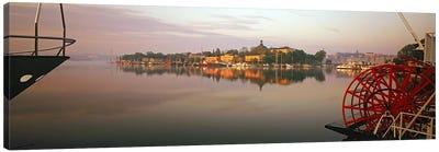 Sternwheeler in a river, Skeppsholmen, Nybroviken, Stockholm, Sweden Canvas Art Print
