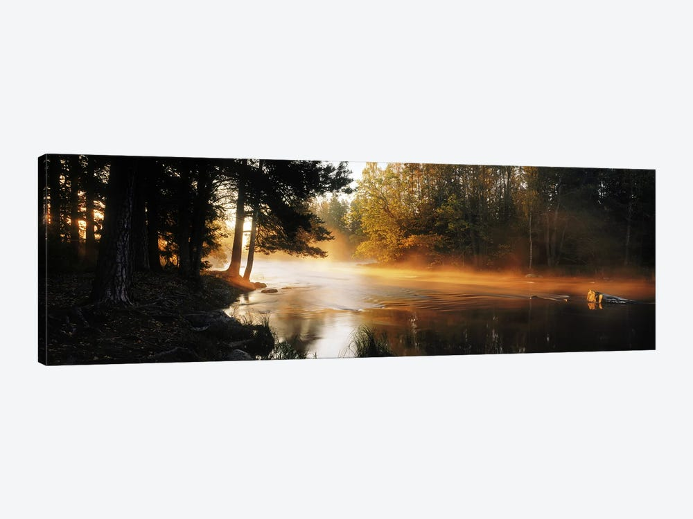 Fog over a riverDal River, Sweden by Panoramic Images 1-piece Canvas Art Print