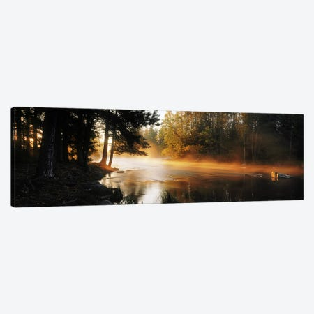 Fog over a riverDal River, Sweden Canvas Print #PIM9816} by Panoramic Images Canvas Wall Art