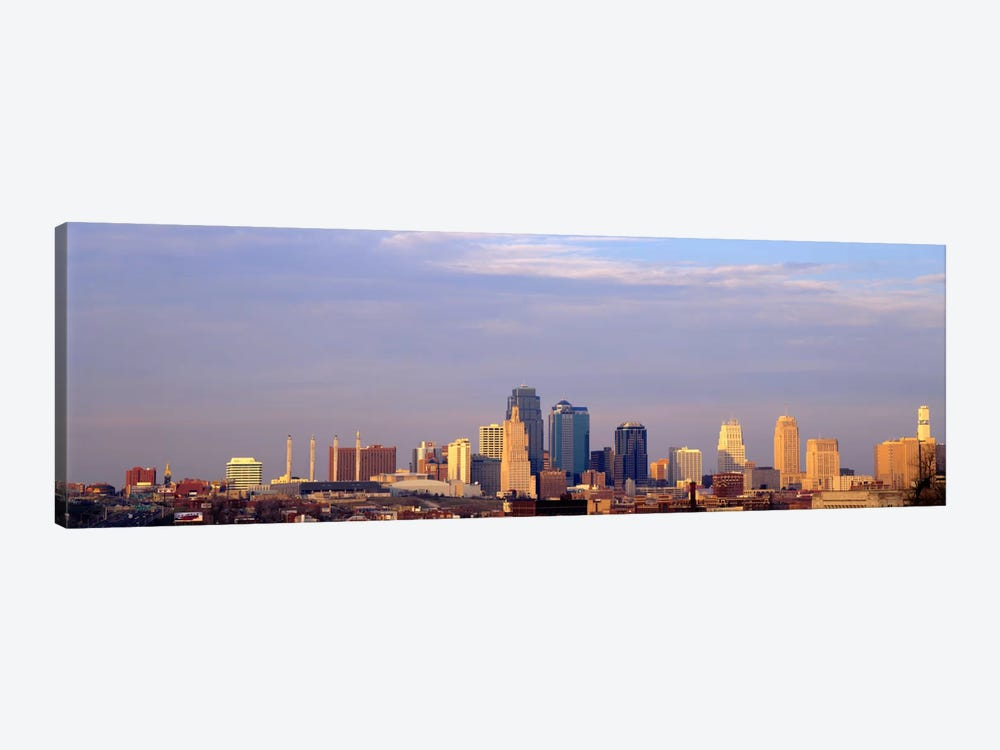 Skyscrapers in a city, Kansas City, Missouri, USA by Panoramic Images 1-piece Canvas Wall Art