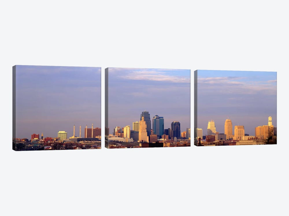 Skyscrapers in a city, Kansas City, Missouri, USA by Panoramic Images 3-piece Canvas Wall Art