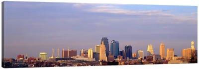 Skyscrapers in a city, Kansas City, Missouri, USA Canvas Art Print