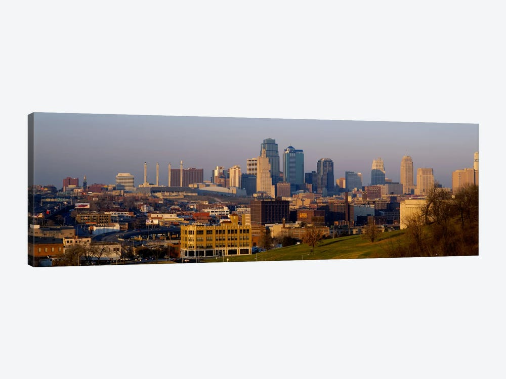 High angle view of a cityscape, Kansas City, Missouri, USA by Panoramic Images 1-piece Canvas Art Print