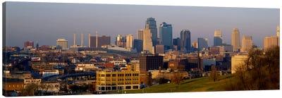 High angle view of a cityscape, Kansas City, Missouri, USA Canvas Art Print