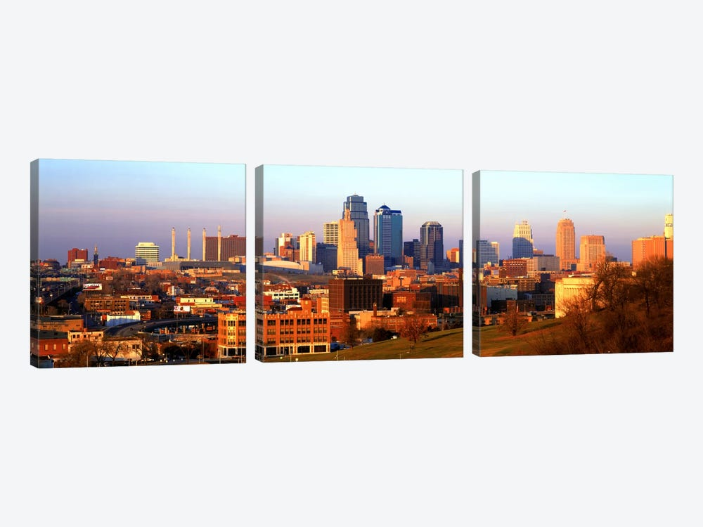 Kansas City MO by Panoramic Images 3-piece Canvas Wall Art