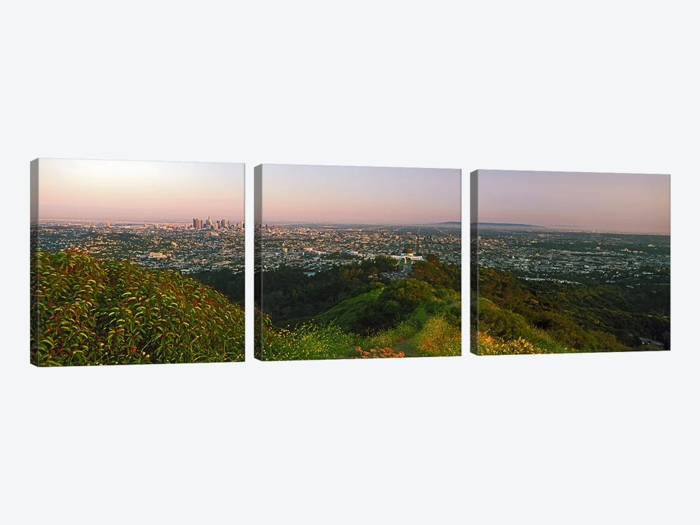 CityscapeSanta Monica, City of Los Angeles, Los Angeles County, California, USA by Panoramic Images 3-piece Canvas Print