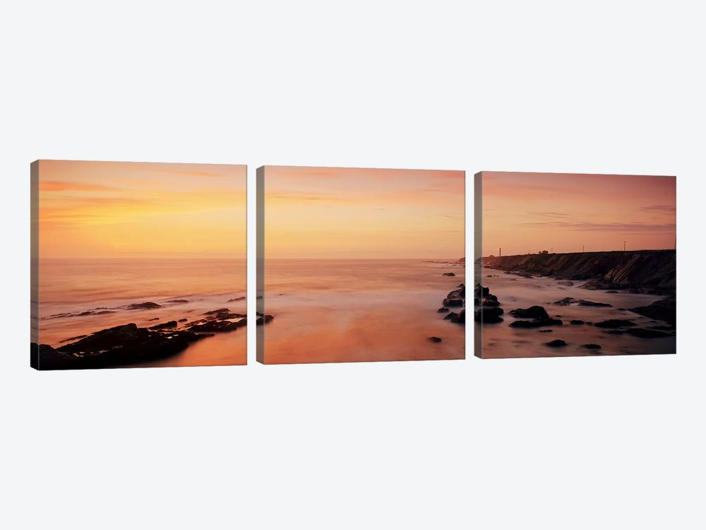 Lighthouse on the coastPoint Arena Lighthouse, Mendocino County, California, USA by Panoramic Images 3-piece Canvas Art Print
