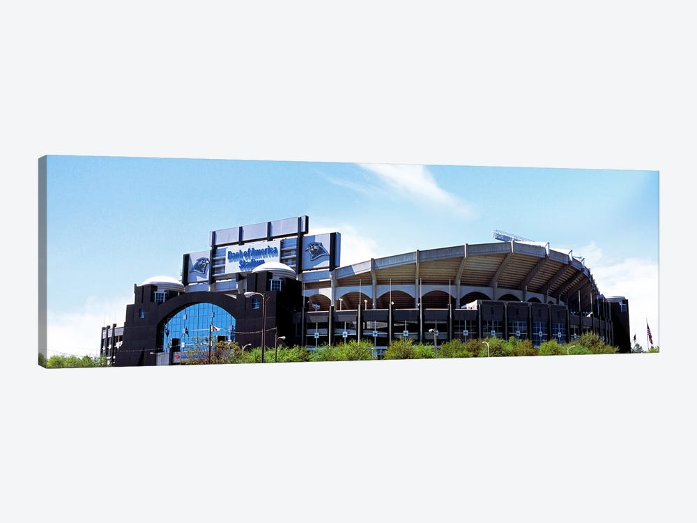 Football stadium in a city, Bank of America Stadium, Charlotte, Mecklenburg County, North Carolina, USA by Panoramic Images 1-piece Canvas Wall Art