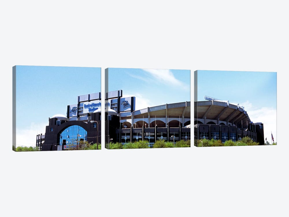 Football stadium in a city, Bank of America Stadium, Charlotte, Mecklenburg County, North Carolina, USA by Panoramic Images 3-piece Canvas Wall Art