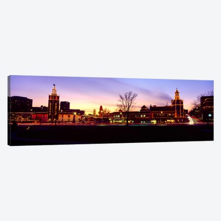 Buildings in a city, Country Club Plaza, Kansas City, Jackson County, Missouri, USA Canvas Print #PIM986} by Panoramic Images Canvas Artwork