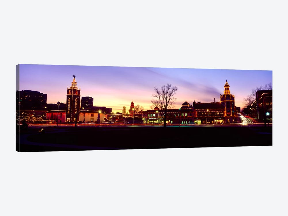 Buildings in a city, Country Club Plaza, Kansas City, Jackson County, Missouri, USA by Panoramic Images 1-piece Canvas Artwork
