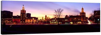 Buildings in a city, Country Club Plaza, Kansas City, Jackson County, Missouri, USA Canvas Art Print