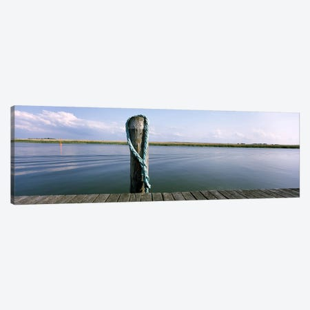 Rope at small harborMecklenburg-Vorpommern, Germany Canvas Print #PIM9871} by Panoramic Images Canvas Art Print
