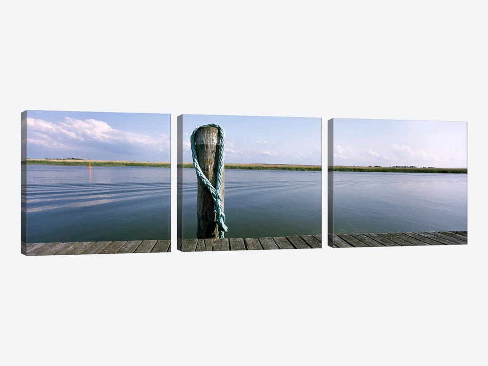 Rope at small harborMecklenburg-Vorpommern, Germany by Panoramic Images 3-piece Canvas Art
