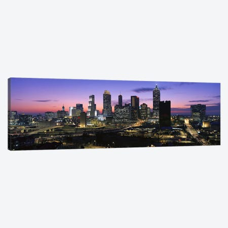 Skyscrapers in a city, Atlanta, Georgia, USA #5 Canvas Print #PIM9876} by Panoramic Images Canvas Artwork