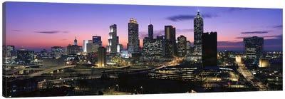 Skyscrapers in a city, Atlanta, Georgia, USA #5 Canvas Art Print